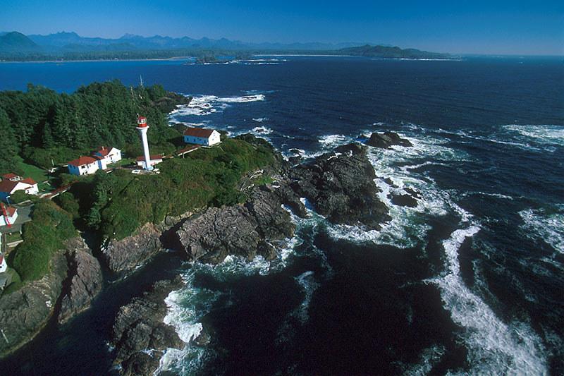 Lennard Island Lighthouse, Tofino, Pacific Rim, Vancouver Island, British Columbia