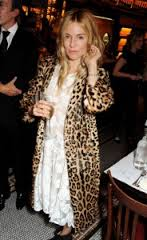 Sienna Miller Leopard Print Coat Celebrity Style Women's Fashion