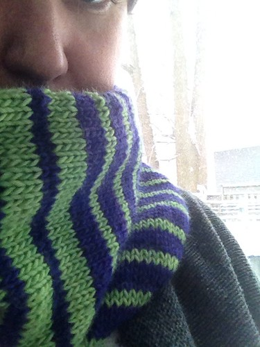 Stripes, actually by gradschoolknitter