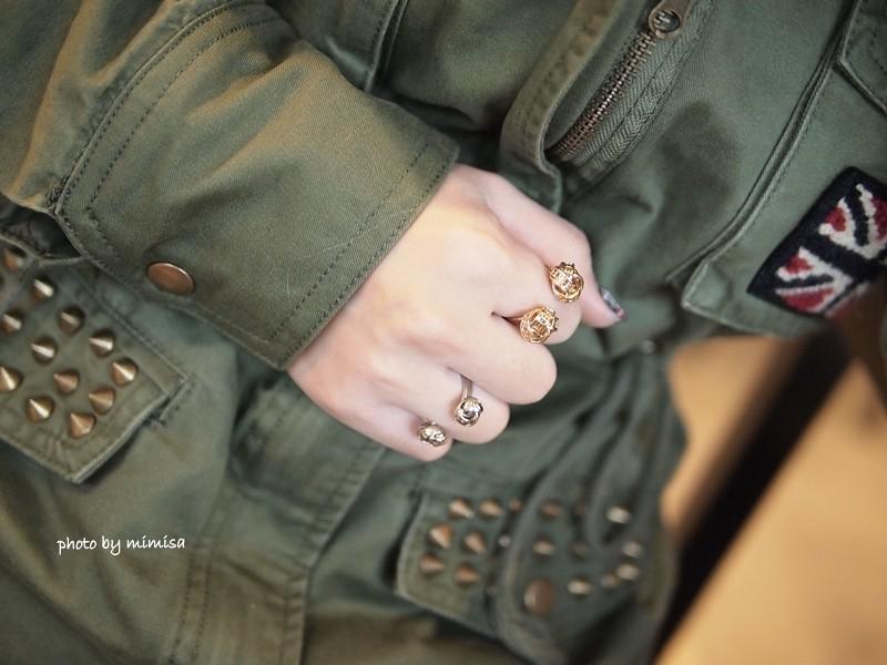RUBON 軍綠色毛領大衣 (16)