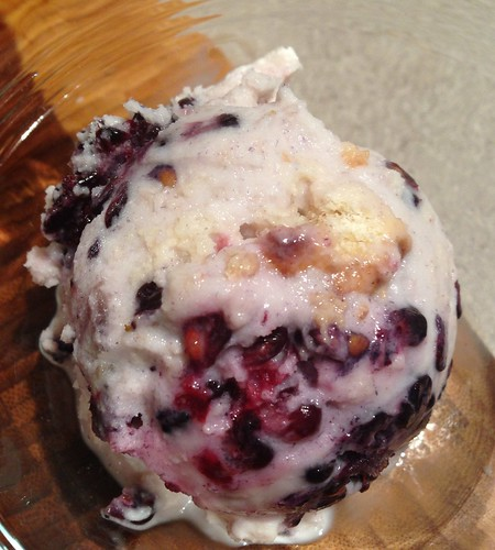 Blackberry sunrise ice cream