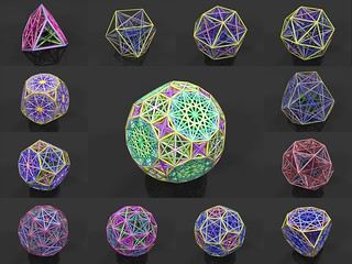 All the edges of the archimedean solids