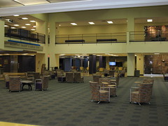 Atrium lounge on lower level in the Student Union