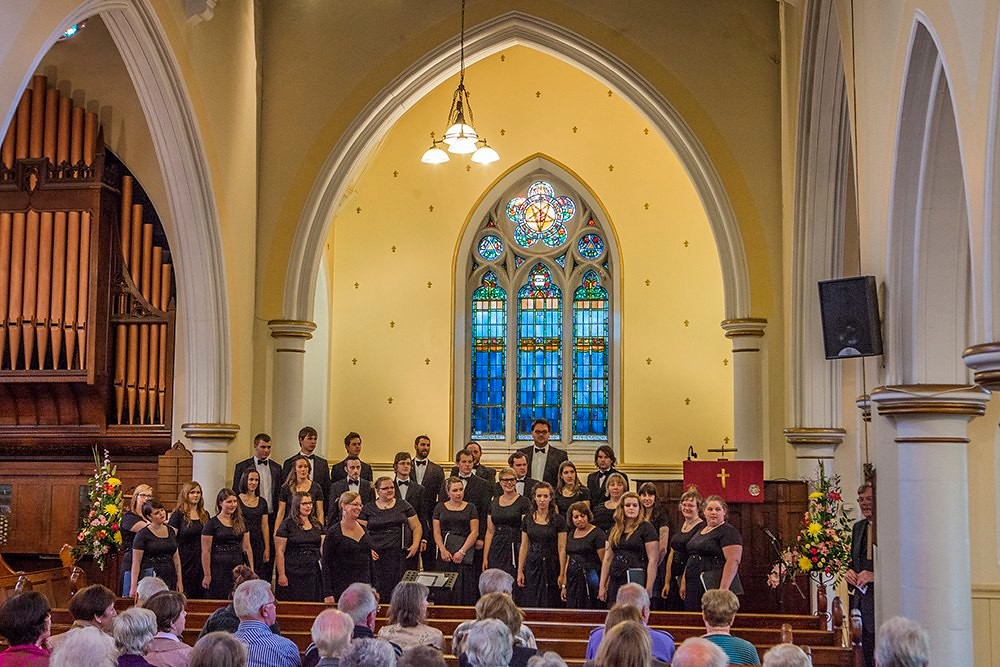 Lethbridge University Singers performs in Dun Laoghaire Methodist Church