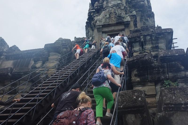 Angkor Wat - Climbing the stairs1