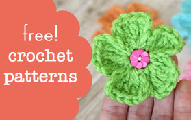 free crochet patterns button