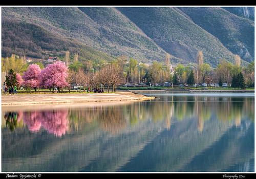 sky mountain lake reflection nature clouds landscape spring nikon macedonia hdr prunus prolet saray purpletree matka skopje treska d90 ezero nikkor80200f28 nikon80200f28 pejsaz hdrfromsingleraw andreaignjatovski ezercetreska