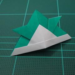 วิธีพับกระดาษเป็นรูปหมวกซามุไร (Origami Samurai Hat) 012