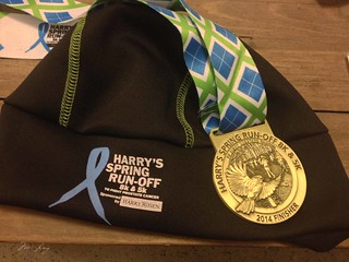 Harry's Spring Run-off hat and medal