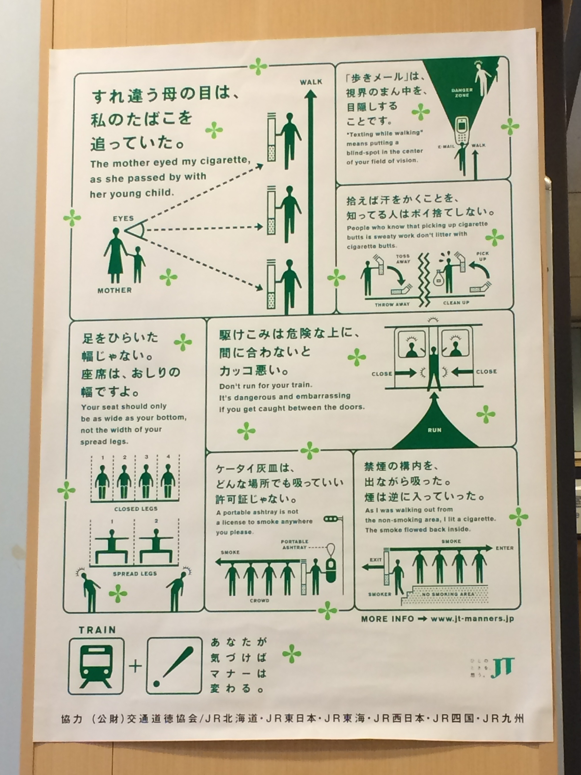 Japan Train signs