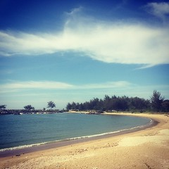 #Jerudong #Beach facing the South China Sea is a popular place for fishing and family recreation activities.