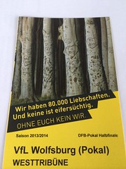 Ticket Borussia Dortmund - VfL Wolfsburg (DFB-Pokal) #BVBwob
