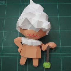 วิธีทำโมเดลกระดาษคุกกี้รสคุกกี้แอนด์ครีม  (Cookie Run Cream Cookie Papercraft Model) 025