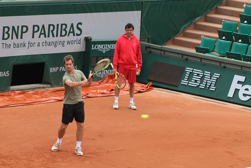 Richard Gasquet and Sergi Bruguera