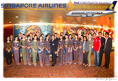 SQ 424 First Commercial A380 Flight to Mumbai