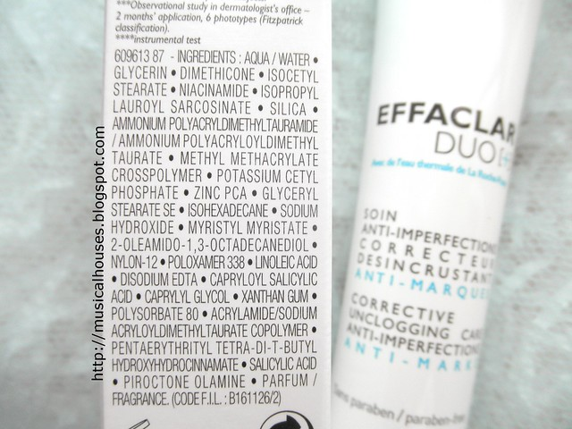 La Roche Posay Effaclar Duo Plus Ingredients