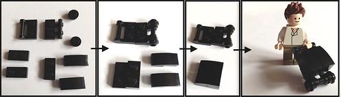 Make a Wheeled Lego Suitcase