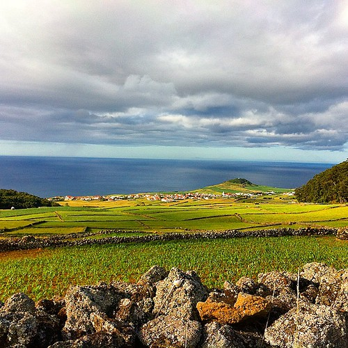 View of the village of #Altares and the Atlantic ocean from #Cales.  #terceira #Azores