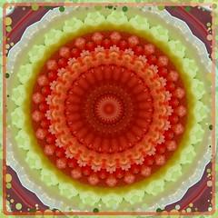 Kaleidoscope Mandala from Cucumber-Tomato Salad