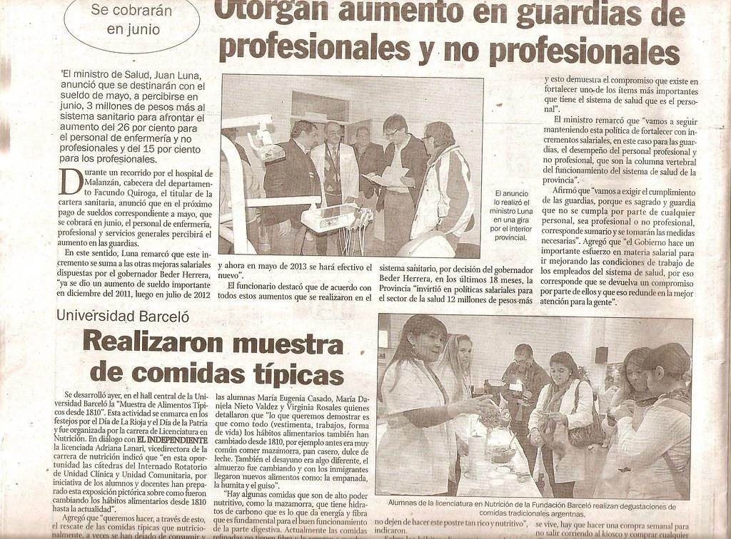 2013-05 Muestra Nutrición La Rioja - El Independiente