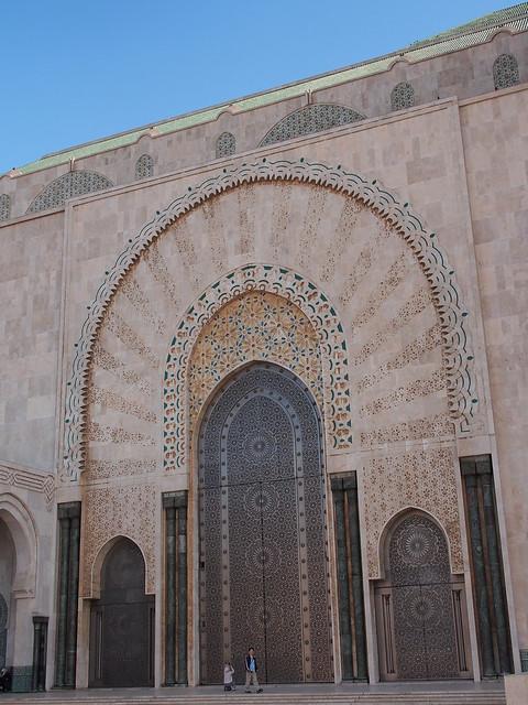 HASSAN II清真寺的大門之一
