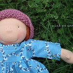 "Summer Gardener Outfit for slim 16"" waldorf dolls"