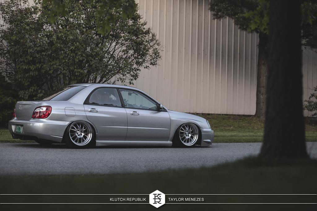"""bagged subaru wrx on klutch wheels sl14 18x9.5"""""""