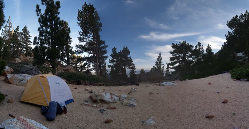 Our beautiful campsite on the ridge east of Red Tahquitz - CS0175 on the PCT