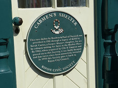 Photo of Ripon Cabmen's Shelter green plaque