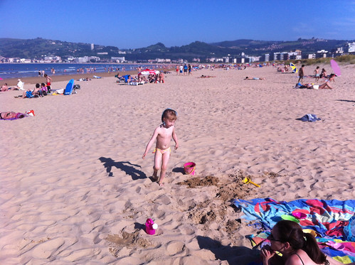 Nora at the Beach