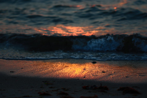 sunset beach water strand sunrise wasser sonne untergang