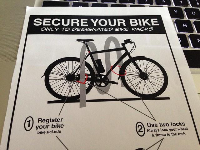 Bike lock on the chain stays!?