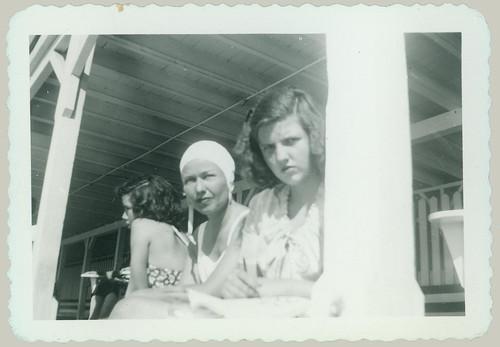 Three girls on the porch