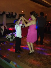 The matron of honor and her youngest son Cody.