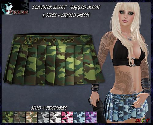 *P* Valerie MESH Skirt ~Camouflages HUD~