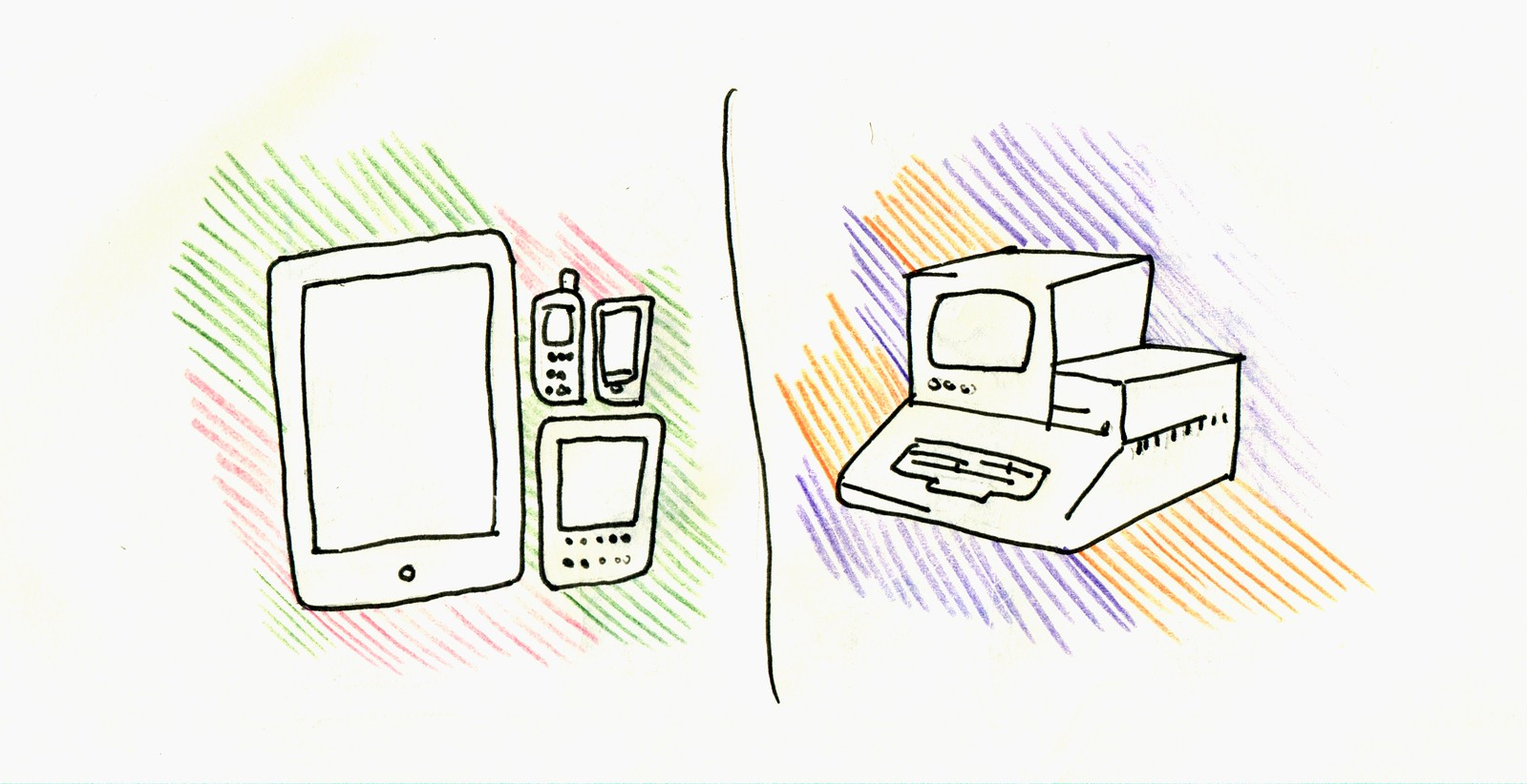 Computers in 1980s and 2010s