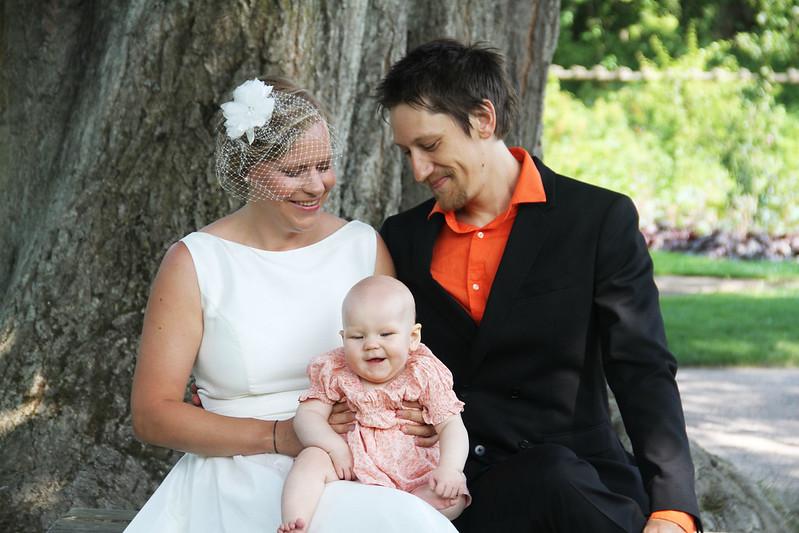 bröllop- och dopfotografering i Botaniska trädgården!