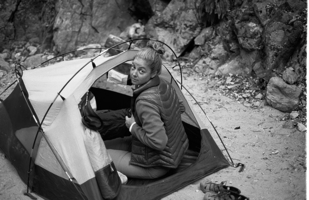 lindsay in the tent at sykes hot spring.jpg