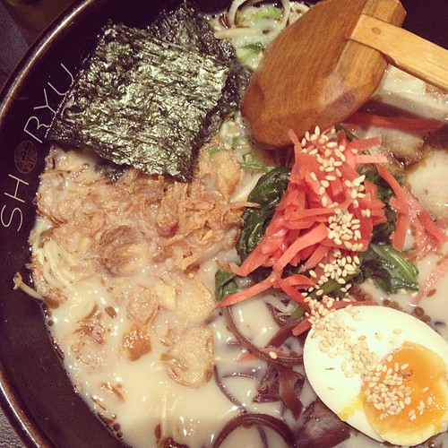Ramen is super delicious! Thanks for sharing @cookiesncandies I love love love this place! #shoryu #ramen #restaurant