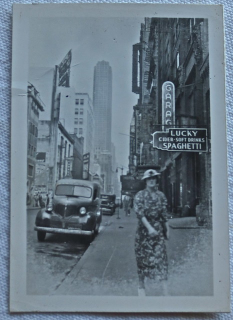 1940s NYC Vintage New York City Photo MIDTOWN TIMES SQUARE AREA LUCKY SPAGHETTI