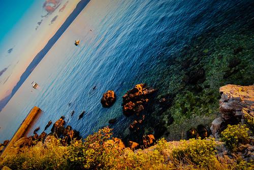 sunset sea croatia adriaticsea hrvatska crikvenica kvarner