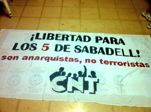 Libertad para los 5 de Sabadell; absolución para los 5 de Sabadell