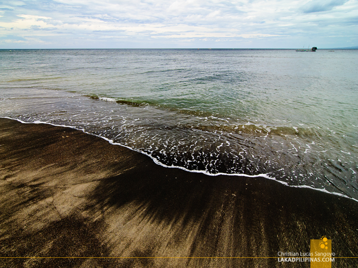 Brown and Black Sand at Linamon's Mago-ong Beach