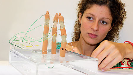 Antonia Tzemanaki developing the Anthropomorphic MIS (minimal invasive surgery) instrument