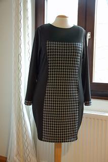 Print block dress