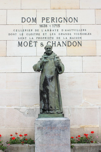 Dom Perignon statue at Moët & Chandon