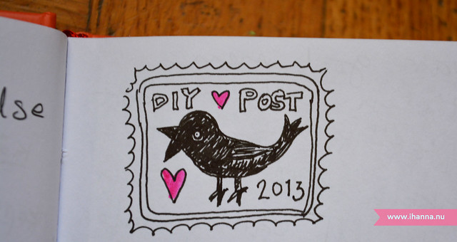 Postal Stamp Drawing by iHanna, in my diary