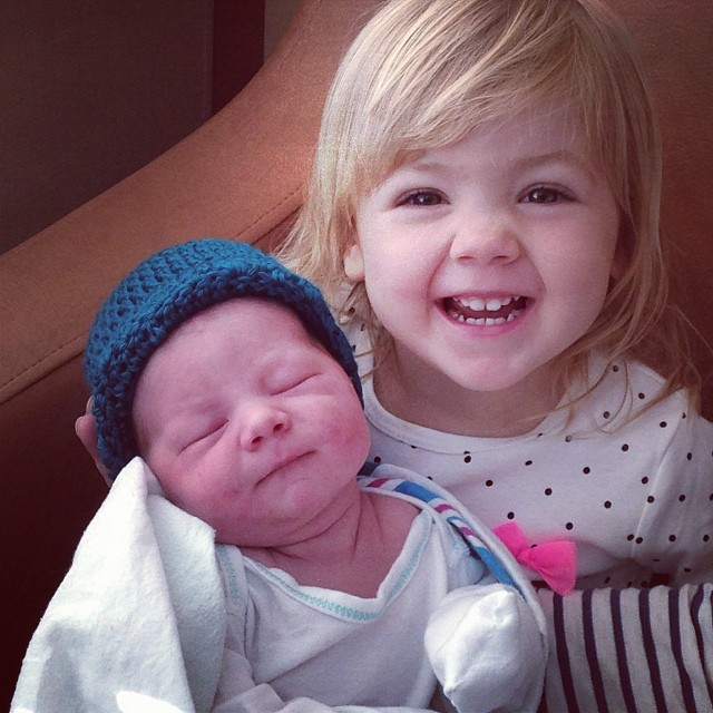 Excited to meet her little brother! #latergram