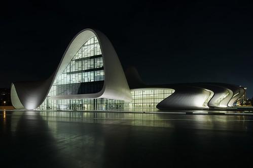 lines architecture night nikon shapes center baku azerbaijan d800 zahahadid merkezi heydaraliyev tumblr afszoomnikkor1424mmf28ged