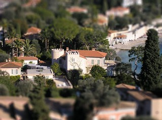 Tilt Shift - Castle in Cap Ferrat